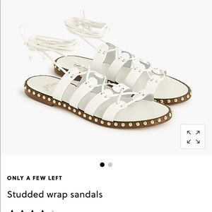 JCrew white studded sandal size 8.5